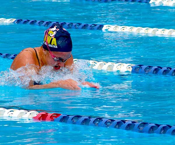 Mya Rasmussen among age group athletes swimming for success